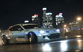 Picture Subaru, Race, Need for Speed, Game, BRZ, Rocket, 2015, Bunny, Nigth