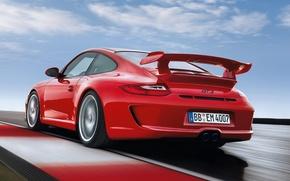 Picture 911, 997, Porsche, Porsche, rear view, GT3, GT3.red