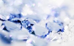 Picture lights, blue, Shine, texture, rhinestones, beads, bokeh