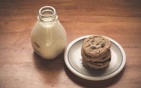 Picture food, milk, cookies
