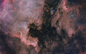Wallpaper space, nebula, North America, Pelican