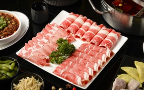 Picture meat, vegetables, cuts