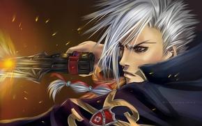 Picture gun, weapons, anime, shot, art, guy, Katekyo Hitman Reborn, Teacher-mafia Reborn, Koyasu, Superbi Ichiro