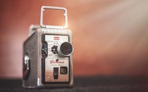Picture macro, background, camera, Kodak Brownie 8 mm