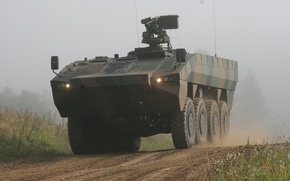 Wallpaper Patria AMV, APC, Military equipment, Weapons