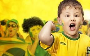Wallpaper Boy, Football, Brasil, FIFA, Fan