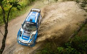 Picture track, Subaru, Impreza, puddle, WRX, STI, Rally, America