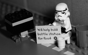 Picture Star Wars, attack, Lego, unemployed