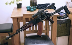 Picture weapons, Kalashnikov, room, AKM, machine