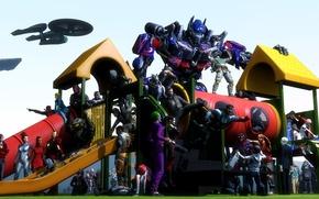 Picture Batman, Lightning, Solid Snake, Deadpool, Joker, Optimus Prime, iron man, Raiden, Shepard, Catwoman, Vase, Isaac …