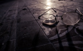 Picture macro, background, glasses
