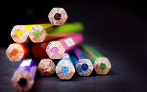Picture macro, background, Wallpaper, blur, wallpaper, different, widescreen, background, full screen, HD wallpapers, widescreen, colored pencils