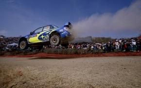 Picture race, Blue, Subaru, Impreza, Sport, People, wrc, Blur