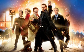 Picture Action, Fire, Alien, Men, Sam, Woman, Oliver, Prince, Martin Freeman, Peter, Man, Nick Frost, Simon …