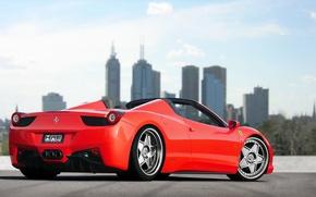 Picture tuning, car, Ferrari, red, ferrari 458 spider