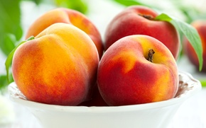 Picture plate, fruit, peaches, peaches