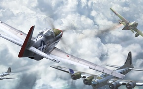 Picture the plane, fighter, dogfight, shock, jet hunter