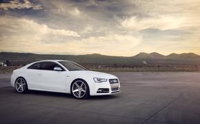 Picture Audi, Audi, white, white, sports car