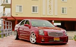 Picture Cadillac, yard, Cadillac, drives, chrome, CTS-V