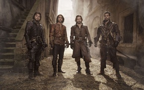 Picture The series, The Musketeers, The Musketeers, Tom Burke, Luke Pasqualino, Howard Charles, Santiago Cabrera