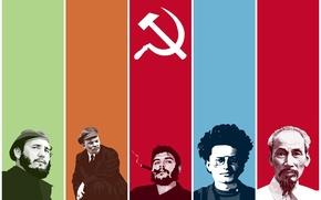 Wallpaper Lenin, Trotsky, Fidel, the Communists