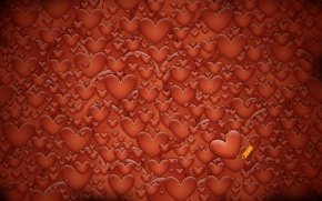 Picture red, hearts, texture, Valentine's day