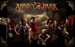Picture steampunk, Abney Park, Jody Ellen, Josh Goering, industrial rock band, Kristina Erickson, Abney Park, Derek …