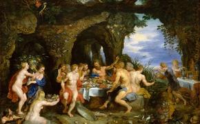 Wallpaper picture, Jan Brueghel the elder, mythology, Holiday Ahela, Peter Rubens