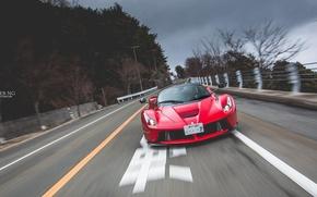 Picture Ferrari, Red, Road, Motion, LaFerrari, CHESTER NG