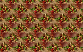 Wallpaper New year, texture, background, poinsettia, holiday, Christmas