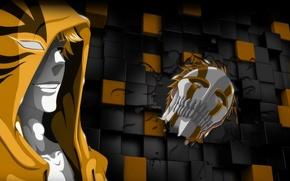 Picture game, Bleach, chaos, yellow, anime, boy, Ichigo, face, blonde, hero, asian, Kurosaki Ichigo, mask, manga, …