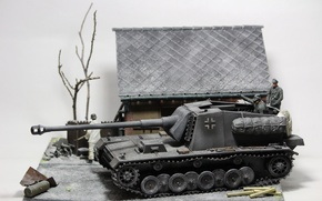 Picture toy, tank fighter, model, tank destroyer