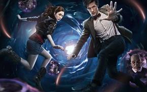 Picture the series, Doctor Who, Doctor Who, funnel, Matt Smith, Matt Smith, Amy Pond, Karen Gillan, …