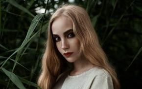 Picture greens, macro, portrait, makeup, bokeh, Tatiana Mercalova, Eugene Buksa