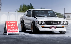 Picture Nissan, White, Skyline, and, Hakosuka, G-TR, Mohammad, Kenmeri, Yassi