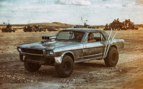 Picture style, desert, car, Post-Apocalyptic