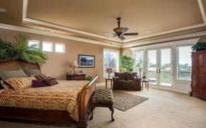 Picture design, Palma, sofa, bed, pillow, window, wardrobe, bedroom