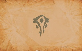 Picture sign, coat of arms, wow, world of warcraft, mists of pandaria, Horde, Horde, pandaria