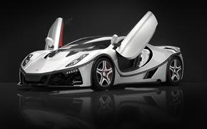 Picture supercar, Lambo doors, 2015, GTA Spano, butterfly doors