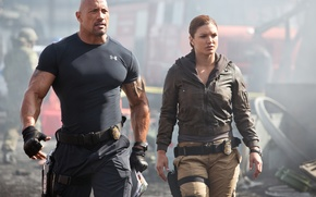 Picture Gina Carano, crime, Fast & Furious 6, Dwayne Johnson, Dwayne Johnson, Fast and furious 6, ...