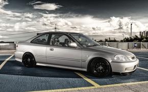 Picture silver, Honda, silver, Honda, Civic, civici
