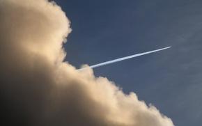 Wallpaper cloud, trail, the plane