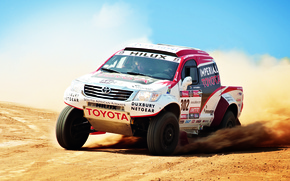 Picture Auto, Sport, Machine, Speed, Day, Toyota, Rally, Dakar, SUV, Rally, The front