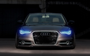 Picture Audi, Car, Front, Rings, Stance, Ligth