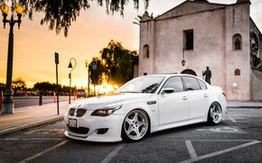 Picture white, tuning, BMW, autowalls, bmw M5