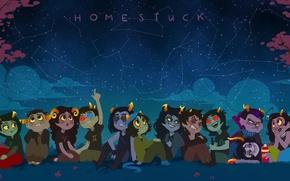 Picture the sky, stars, stars, Homestuck