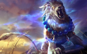 Wallpaper Heroes of Newerth, moba, Lion of Sol, Leo, Gemini, art