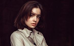 Wallpaper portrait, Lida, Lydia, George Chernyadev, brown-eyed, background