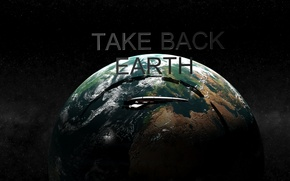 Picture earth, Earth, render, normandy, ship, max, 3ds, take earth back, sr1, mass effect 1
