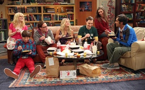 Picture biology, books, food, laughter, the series, Kaley Cuoco, friends, the conversation, astronomy, The big Bang …